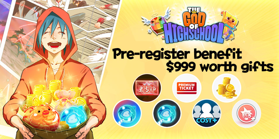 <God of High school> Exclusive Gifts for QooApp Player!! Pre-Register Now!!